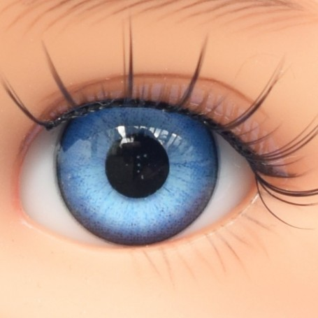 YEUX EN VERRE OVAL REAL BLEU LAGON 12 mm GLASS EYES POUPÉE BJD LATI YELLOW MY MEADOWS SAFFI BAILEY TELLA GIGI IPLEHOUSE