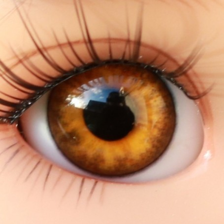 OVAL REAL HAZEL 12 mm GLASS EYES FOR DOLL BJD LATI YELLOW MY MEADOWS GIGI BAILEY PATTI IPLEHOUSE ...