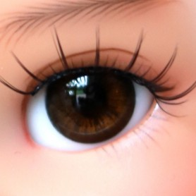 YEUX EN VERRE OVAL BROWNIE 12 mm GLASS EYES POUPÉE BJD LATI YELLOW MY MEADOWS SAFFI BAILEY TELLA GIGI
