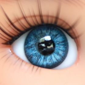 YEUX EN VERRE OVAL REAL BABY BLUE 12 mm GLASS EYES POUPÉE BJD LATI YELLOW MY MEADOWS SAFFI BAILEY TELLA GIGI