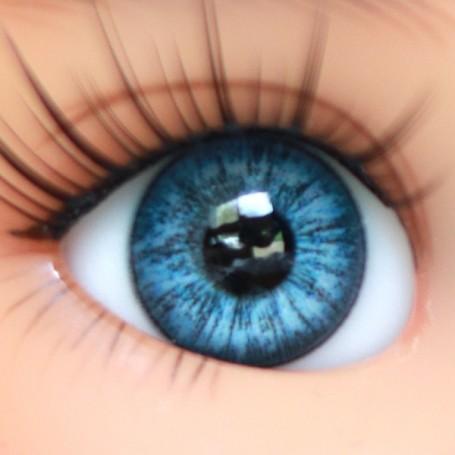OVAL REAL BABY BLUE 12 mm GLASS EYES FOR DOLL BJD LATI YELLOW MY MEADOWS GIGI BAILEY PATTI ...