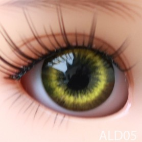 YEUX GLIB VERT DARK GREEN LD05 REALISTIC EYES POUPÉE BJD BALL JOINTED DOLL LATI YELLOW IPLEHOUSE 12 mm