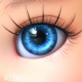 YEUX GLIB OCEAN BLUE 14LD01 RÉALISTES EYES POUR POUPÉE BJD BALL JOINTED DOLL LATI YELLOW PUKIFEE IPLEHOUSE DOLLS 14 mm
