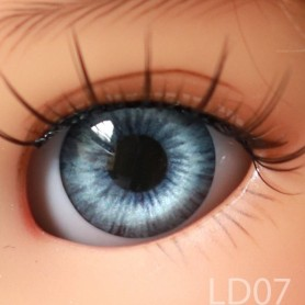 YEUX GLIB BLEUS BLUE DREAM 6LD07 REALISTIC EYES POUPÉE BJD BALL JOINTED DOLL LATI YELLOW PUKIFEE 6 mm