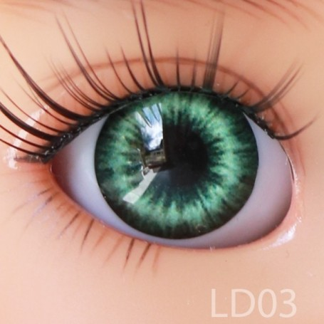 YEUX GLIB VERT FOREST GREEN 6LD03 REALISTIC EYES POUPÉE BJD BALL JOINTED DOLL LATI WHITE PUKIPUKI  6 mm