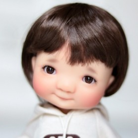 YEUX GLIB MARRON DARK BROWN 10LD10 REALISTIC EYES POUPÉE BJD BALL JOINTED DOLL LATI YELLOW PUKIFEE 10 mm