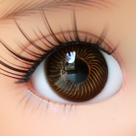 CLASSIC OVAL BROWN 10 mm GLASS EYES FOR DOLL BJD BALL JOINTED DOLL LATI YELLOW