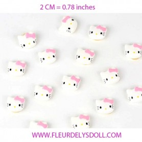 HELLO KITTY HAIR ACESSORY ELASTIC 2 CM FOR DOLLS BJD BLYTHE PULLIP MEADOWDOLLS