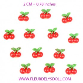 CHERRY HAIR ACCESSORY ELASTIC 2 CM FOR DOLLS BJD BLYTHE PULLIP MEADOWDOLLS
