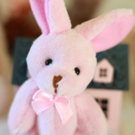 ADORABLE LAPIN EN PELUCHE 11 CM MINIATURE LATI YELLOW MY MEADOWS BJD BARBIE BLYTHE PULLIP DIORAMAS DOLLHOUSE 1/6