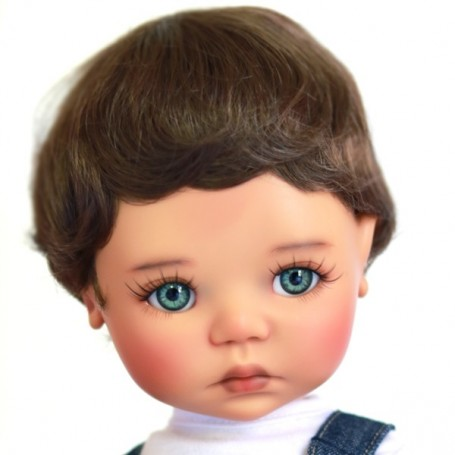 """PERRUQUE MONIQUE WIG BABY CHARLY BOY OR GIRL 12.13 POUR BJD MY MEADOWS 18"""" DOLLS ETC..."""