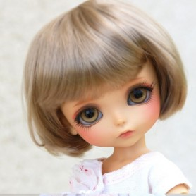 WIG PETIT BOB DARK BLOND BJD LATI YELLOW PUKIFEE IRREALDOLL MY MEADOWS TONNER SYBARITE JAMIESHOW KINGDOM DOLL...5/6