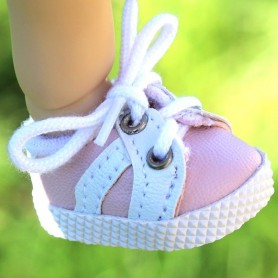 SNEAKERS PINK TENNIS SHOES 38 X 2 CM BJD MEADOWSDOLLS MY MEADOWS DOLLS GIGI SAFFI BAILEY... AND DOLLS WITH SIMILAR FOOT SIZE