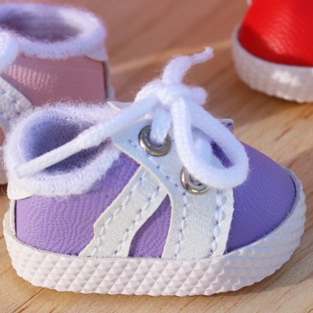 SNEAKERS PURPLE TENNIS SHOES 38 X 2 CM BJD MEADOWSDOLLS MY MEADOWS DOLLS GIGI SAFFI BAILEY... AND DOLLS WITH SIMILAR FOOT SIZE