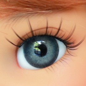 OVAL REAL MOUSE GREY 12 mm GLASS EYES FOR DOLL BJD LATI YELLOW MY MEADOWS GIGI BAILEY PATTI ...