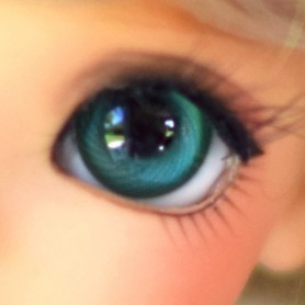 YEUX EN VERRE 12 mm MEISTER GLASS EYES GREEN GRAY POUPÉE BJD BALL JOINTED DOLL LATI YELLOW