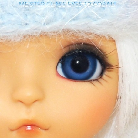 MEISTER GLASS EYES COBALT 12 mm FOR DOLL BJD BALL JOINTED DOLL LATI YELLOW