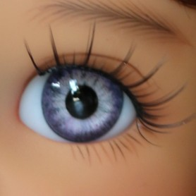 YEUX EN VERRE OVAL REAL LIGHT VIOLET 10 mm GLASS EYES POUPÉE BJD PUKIFEE OURS REBORN DOLLMORE IPLEHOUSE DOLLS