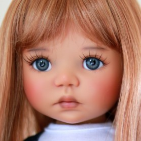 "PERRUQUE MONIQUE DOLL WIG PEGGY ROUX LEGER 12/13 POUR POUPÉE BJD MEADOWDOLLS SAFFI BAILEY SYLVIA-SCARLET 18"" DOLLS ETC..."