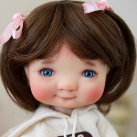 DOLL WIG MADDY BROWN 8/9 FOR BJD MY MEADOWS PULLIP KAYE WIGGS WICHTEL SD DZ AOD DOD LUTS 1/3 BJD DOLFIE
