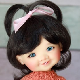 DOLL WIG CINDY DARK BROWN 8/9 FOR BJD MY MEADOWS PULLIP KAYE WIGGS WICHTEL SD DZ AOD DOD LUTS 1/3 BJD DOLFIE