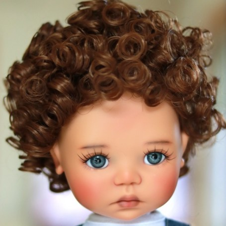 "PERRUQUE MONIQUE WIG LANEY AUBURN 12.13 POUR BJD MY MEADOWS 18"" DOLLS ETC..."
