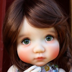 WIG TESSIE REDDISH BROWN 8/9 FOR BJD MY MEADOWS PULLIP KAYE WIGGS WICHTEL SD DZ AOD DOD LUTS 1/3 BJD DOLFIE