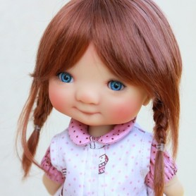 WIG TESSIE COPPER DOUBLE RED 8/9 FOR BJD MY MEADOWS PULLIP KAYE WIGGS WICHTEL SD DZ AOD DOD LUTS 1/3 BJD DOLFIE