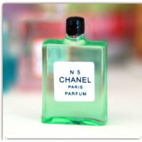 CHANEL 5 PERFUME BOTTLE MINIATURE LATI YELLOW BARBIE FASHION ROYALTY BLYTHE PULLIP SYBARITE DOLLHOUSE DIORAMA 1:6