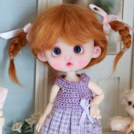 PERRUQUE WIG MOHAIR MAELYS LIGHT FOX BJD LATI YELLOW PUKIFEE BJD MY MEADOWS CHARA NAVI DOLLZONE LANKUI 5/6
