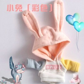 HOODIE BUNNY SWEAT OUTFIT FOR OB11 STODOLL LATI WHITE SP PUKIPUKI OBITSU 11 CM DOLLS