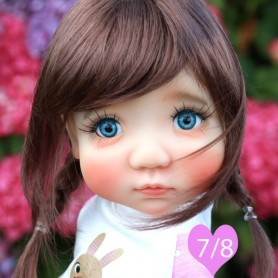 TESSIE CHESTNUT BROWN 7/8 WIG FOR BJD DOLLS EFFNER LITTLE DARLING NIKKI BRITT DOLLS DOLLFIE MSD KAYE WIGGS...