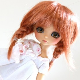 PERRUQUE WIG TESSIE RED CARROT POUR BJD STODOLL OB11 CUSTOM SYBARITE LATI YELLOW PUKIFEE DOLL 5/6