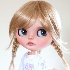 MONIQUE TESSIE WIG 10-11 GOLDEN BLOND BJD DOLLS BLYTHE MEADOWDOLLS MAE ADRYN ZWERGNASE DOLL