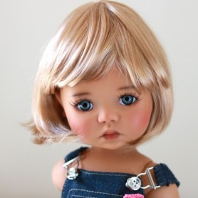 "PERRUQUE WIG BOB MARINA DUO BLOND 12.13 EXCLUSIVE FDL BJD MY MEADOWS 18"" DOLLS ETC..."