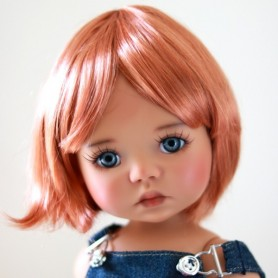"MARINA RED FOX MOHAIR WIG BOB CUT 12/13 EXCLUSIVE FDL FOR BJD MY MEADOWS 18"" DOLLS ETC..."