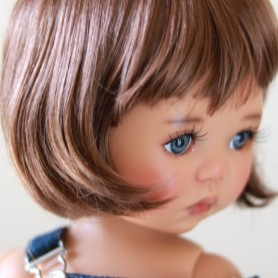 "BOB MARINA REDDISH BROWN WIG FRENCH CUT 12/13 EXCLUSIVE FDL FOR BJD MY MEADOWS 18"" DOLLS ETC..."
