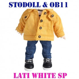 DENIM JEAN PANTS OUTFIT FOR BJD OB11 STODOLL AMY DOLL LATI WHITE SP PUKIPUKI OBITSU 11 CM DOLLS