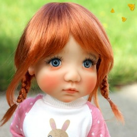 MONIQUE TESSIE WIG 10-11 EXCLUSIVE FLEURDELYSDOLL CARROT RED FOR BJD MY MEADOWS MAE MEADOWSDOLL BLYTHE DOLLS