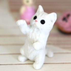 LOVELY LICCA STAND UP CAT MINIATURE BARBIE FASHION ROYALTY LATI YELLOW PUKIFEE BJD BLYTHE PULLIP DOLLHOUSE DIORAMA DOLL