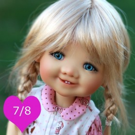 TESSIE GOLDEN BLOND 7/8 WIG FOR BJD DOLLS EFFNER LITTLE DARLING NIKKI BRITT DOLLS DOLLFIE MSD KAYE WIGGS...