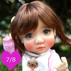 TESSIE REDDISH BROWN 7/8 WIG FOR BJD DOLLS EFFNER LITTLE DARLING NIKKI BRITT DOLLS DOLLFIE MSD KAYE WIGGS...