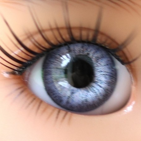 YEUX EN VERRE OVAL REAL LIGHT VIOLET 18 mm GLASS EYES POUR POUPÉE BJD BALL JOINTED DOLL MY MEADOWS SAFFI BAILEY