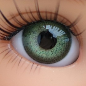 YEUX EN VERRE OVAL REAL VERT TENDRE 18 mm GLASS EYES POUR POUPÉE BJD BALL JOINTED DOLL MY MEADOWS SAFFI BAILEY