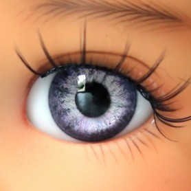 YEUX EN VERRE OVAL REAL LIGHT VIOLET 6 mm GLASS EYES POUPÉE BJD MY MEADOW LATI WHITE BEAR REBORN DOLLMORE IPLEHOUSE DOLLS
