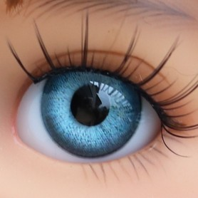 YEUX EN VERRE OVAL REAL BLEU MAYA 12 mm GLASS EYES POUPÉE BJD LATI YELLOW MY MEADOWS SAFFI BAILEY TELLA GIGI