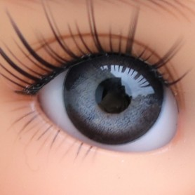 YEUX EN VERRE OVAL REAL GRIS ARDOISE 18 mm GLASS EYES POUR POUPÉE BJD BALL JOINTED DOLL MY MEADOWS SAFFI BAILEY