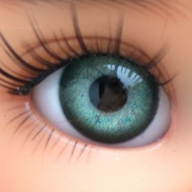 YEUX EN VERRE OVAL REAL VERT GRIS 12 mm GLASS EYES POUPÉE BJD LATI YELLOW MY MEADOWS SAFFI BAILEY TELLA GIGI