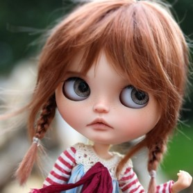 MONIQUE TESSIE COPPER WIG 10.11 BJD DOLLS BLYTHE MEADOWDOLLS MAE ADRYN ZWERGNASE DOLL