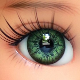 OVAL REAL EMERALD GREEN 6 mm GLASS EYES FOR DOLL BJD BEAR REBON DOLL LATI WHITE BEAR REBORN DOLLMORE IPLEHOUSE DOLLS